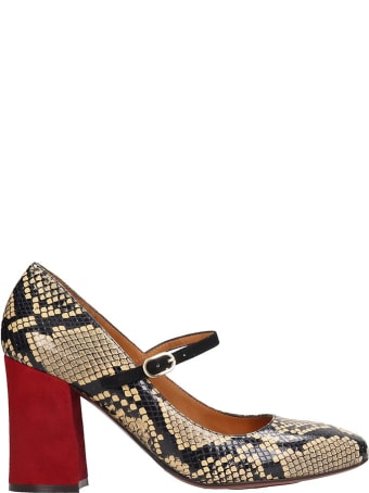 Chie Mihara Vache Pumps In Beige Leather