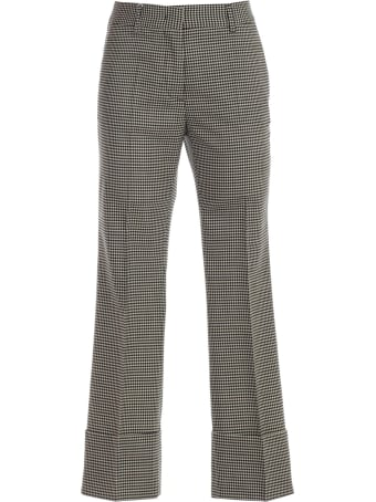 Alberto Biani Pants Short Flared W/high Lapel Vichy