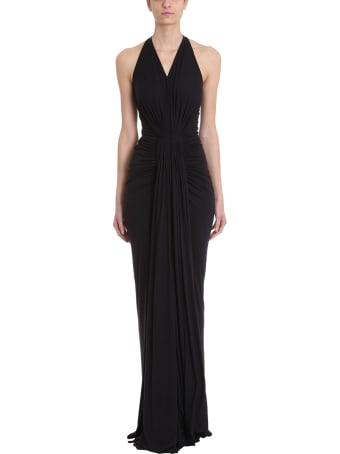 Rick Owens Lilies Gown Draped Jersey Dress