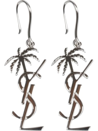 Saint Laurent Monogram Palm Earrings