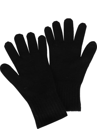 Agnona Black Cashmere Gloves