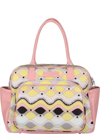 Emilio Pucci Multicolor Changing Bag With Colorful Brand's Iconic Print