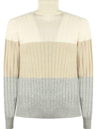Brunello Cucinelli Beige Wool-cashmere Blend Jumper