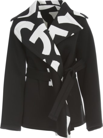 Issey Miyake Short Coat W/belt