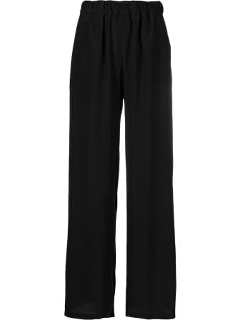 Parosh Wide Leg Abotay Black Trousers