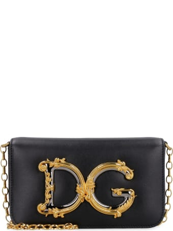 Dolce & Gabbana Dg Girls Leather Crossbody Bag