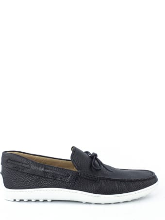 Tod's Loafers In Blue Leather