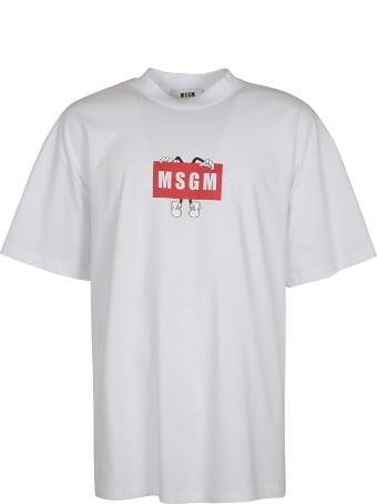 MSGM Classic Logo Print T-shirt