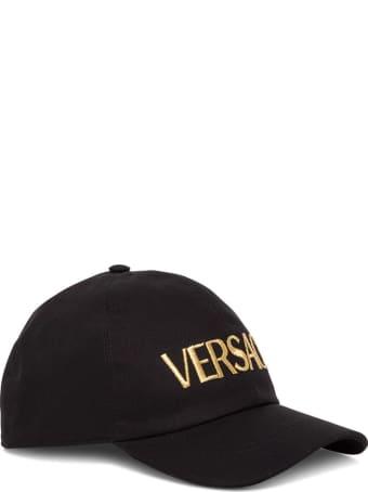 Versace Cotton Cap With Logo