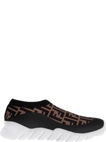 Fendi Logo Sock Style Sneakers