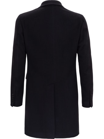 Tagliatore Single-breasted Coat In Cashemre Cloth