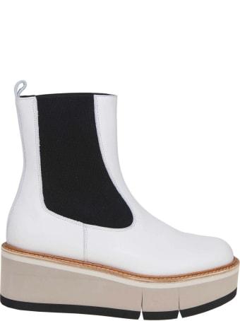 Paloma Barcelò Paloma Barcelo 'leather Boot Color Chalk