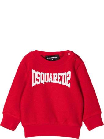 Dsquared2 Red Cotton Sweatshirt