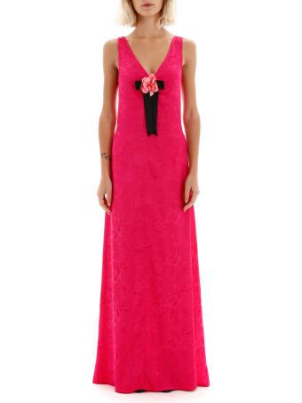 STAUD Long Jacquard Dress