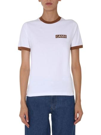 Ganni Round Neck T-shirt