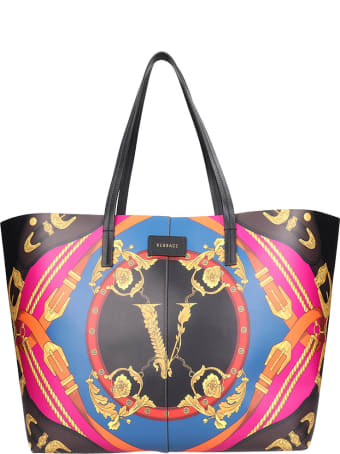 Versace Tote In Black Leather