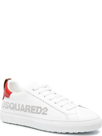 Dsquared2 Man White And Red San Diego Sneakers
