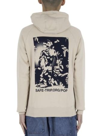 Pop Trading Company Safe-trip.org/pop Hooded Sweat - Beige