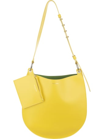 Sara Battaglia Yellow Rachele Hobo Bag