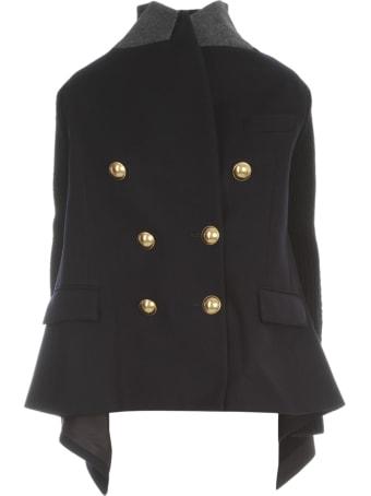 Sacai Wool Melton X Knit Jacket