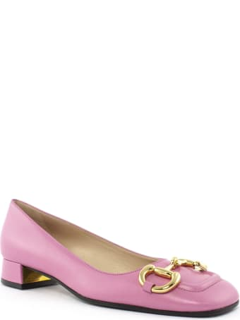 Gucci Pink Leather Ballet Flat