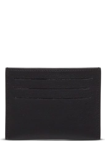 Givenchy Black Leather Card Holder With Contrasting Logo