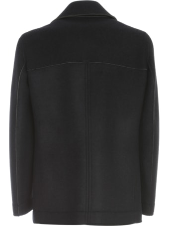 Emanuel Ungaro Wool Double Breasted Peacot