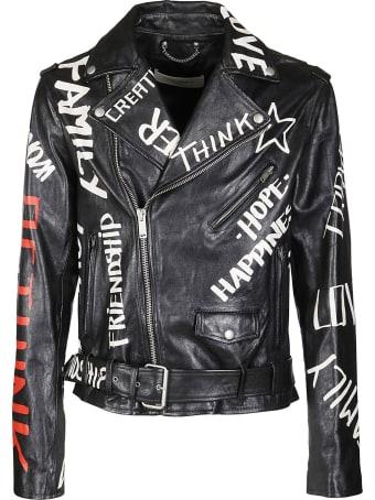 Golden Goose Black Leather Jacket