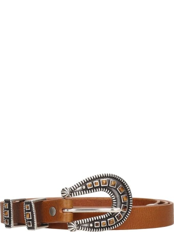 Alanui Gemstone  Belts In Brown Leather