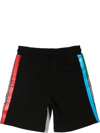 GCDS Black Cotton Shorts
