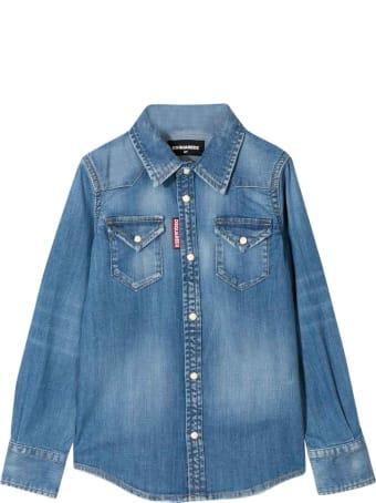 Dsquared2 Blue Denim Shirt Teen