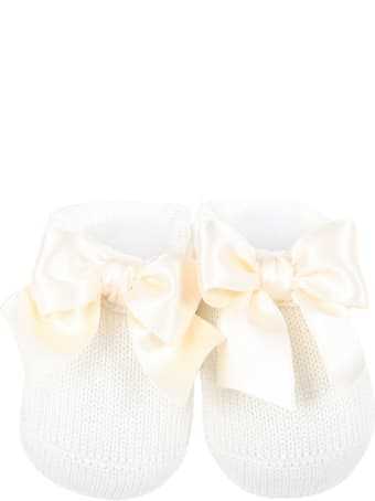 La Perla Ivory Suit For Babygirl With Bow