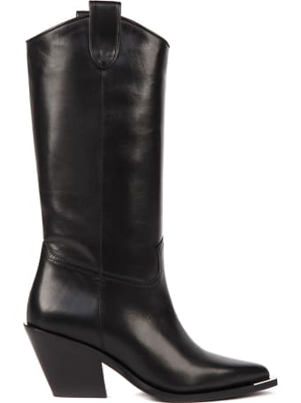 Aldo Castagna Black Leather Boots