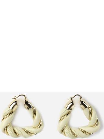 Bottega Veneta Nappa & Silver Earrings