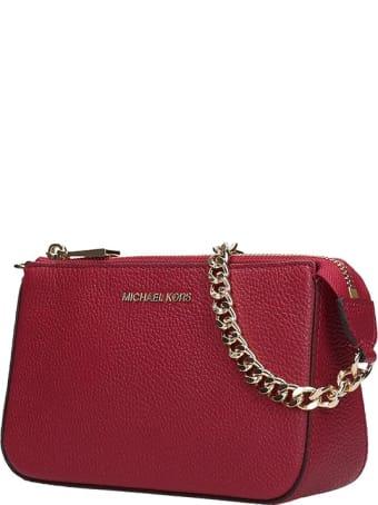 Michael Kors Hand Bag In Bordeaux Leather