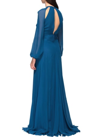 Roberto Cavalli Dress Roberto Cavalli Long  Dress In Cut Out Silk