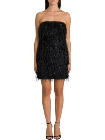 Federica Tosi Faux Feather Sheath Dress