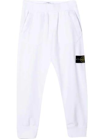Stone Island Junior White Teen Trousers