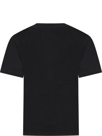 Balenciaga Black T-shirt For Kids With Logos