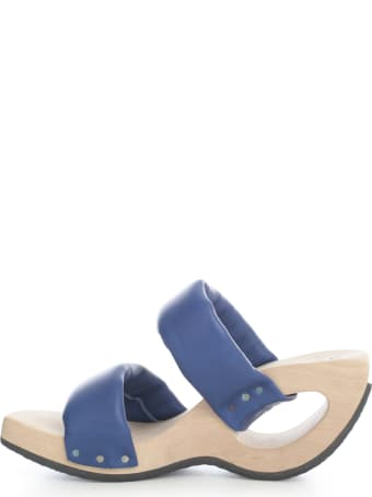 Trippen Open Toe Sandal W/double Strap And Holed Heel
