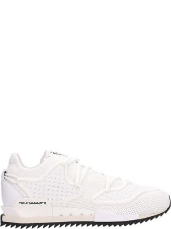 Y-3 Harigane Ii White Mesh Sneakers