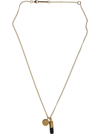 AMBUSH Gold-tone And Black Silver Necklace
