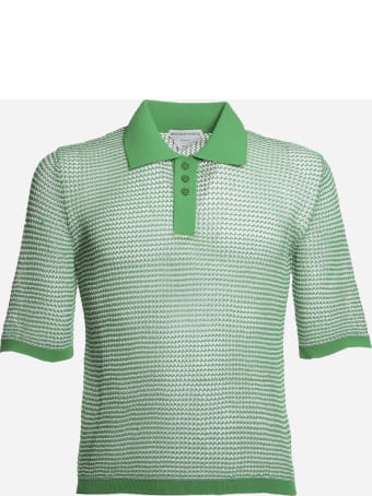 Bottega Veneta Loose Weave Polo Made Of Cotton
