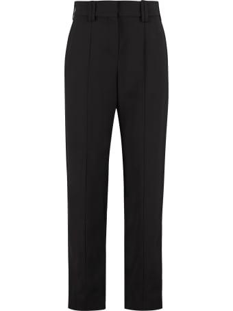 Balmain High-waist Tapered-fit Trousers