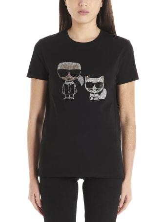 Karl Lagerfeld 'ikonik Karl & Choupette' T-shirt