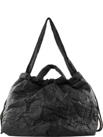 Vic Matié Collapsible Backpack In Black Nylon