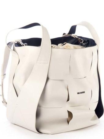 Vic Matié Nadege Large Ivory Bucket Bag
