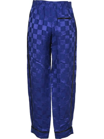 Haider Ackermann Geometric Print Wide-leg Trousers