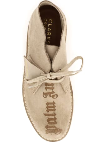 Palm Angels Clarks Desert Boots With Logo