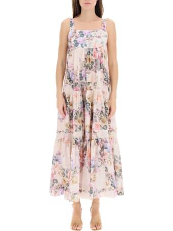 Zimmermann Brigthon Dress In Floral Cotton